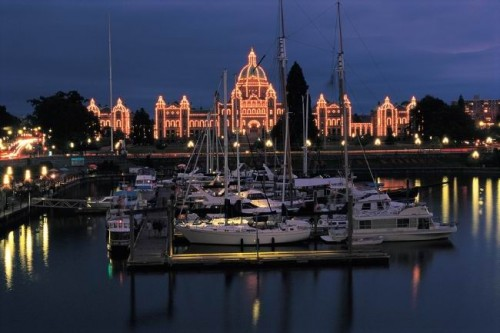 Victoria nuit - Credit Photo Tourism BC - JF Bergeron