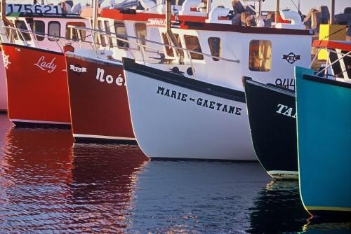 Bateaux de pêche multicolores - Crédit Photo - P.Saharoff