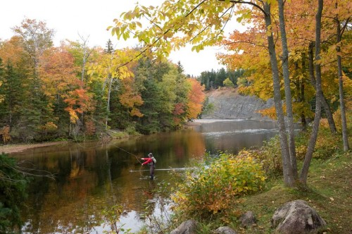 Angler on the Margaree River - Credit Photo Nova Scotia Tourism