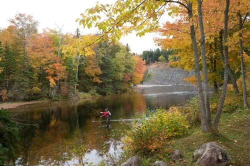 Angler on the Margaree River - Credit Photo Nova Scotia Tourism