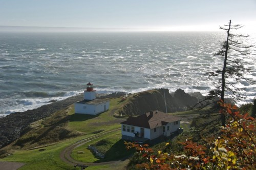 Dramatic views of the lighthouse, raging sea and coastal scenery on the Bay of Fundy at Cape d'Or - Credit Photo Nova Scotia Tourism