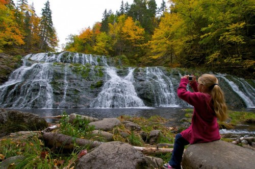 Egypt Falls on Cape Breton Island not far from the community of Scotsville - Credit Photo Nova Scotia Tourism
