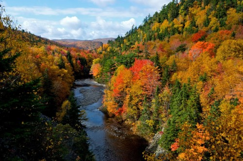 Fall scenery on the east side of the Cabot Trail along the St. Ann's loop - Credit Photo Nova Scotia Tourism