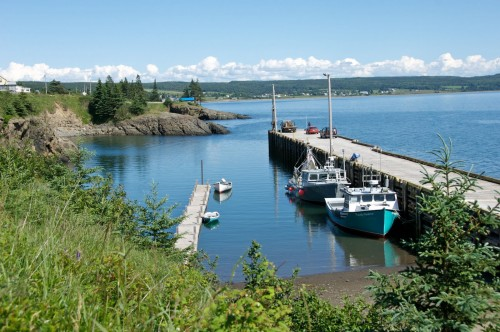 Fishing boats at Scots Bay on the Fundy Shore and Annapolis Valley Region - Credit Photo Nova Scotia Tourism