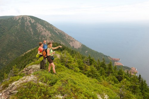 Hikers on trail in Cape Breton Highlands National Park during the annual Hike the Highlands Festival - Credit Photo Nova Scotia Tourism