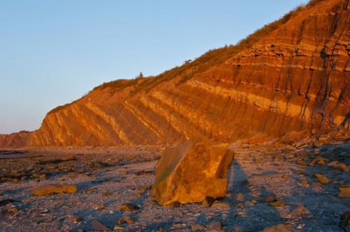 Nova Scotia's Joggins Fossil Cliffs at sunset - Credit Photo Nova Scotia Tourism