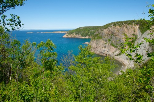 Panoramic view of cliffs at White Point on the Cabot Trail - Credit Photo Nova Scotia Tourism