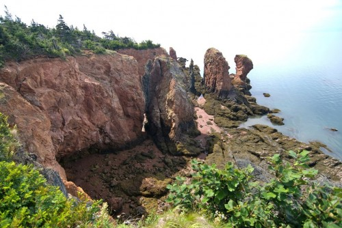 Rock formations at Cape Chignecto Provincial Park on the Bay of Fundy - Credit Photo Nova Scotia Tourism