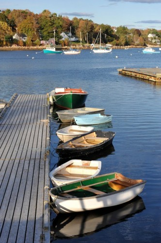 Rowboats and pleasure boats on Mahone Bay on Nova Scotia's South Shore - Credit Photo Nova Sotia Tourism
