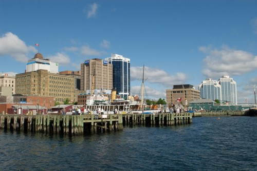 Scene from end of pier behind the Waterfront Visitor Information Centre - Credit Photo Nova Scotia Tourism