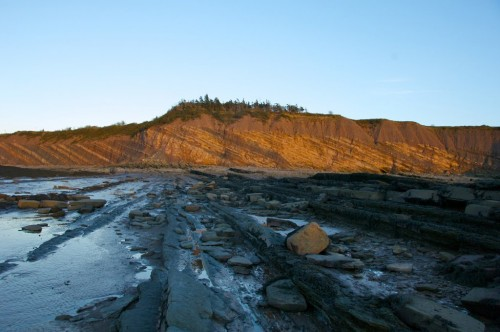 Sunset over Nova Scotia's Joggins Fossil Cliffs - Credit Photo Nova Scotia Tourism