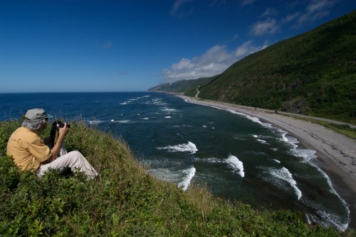 View of beach and shoreline in Cape Breton Highlands National Park near Cheticamp - Credit Photo Nova Scotia Tourism