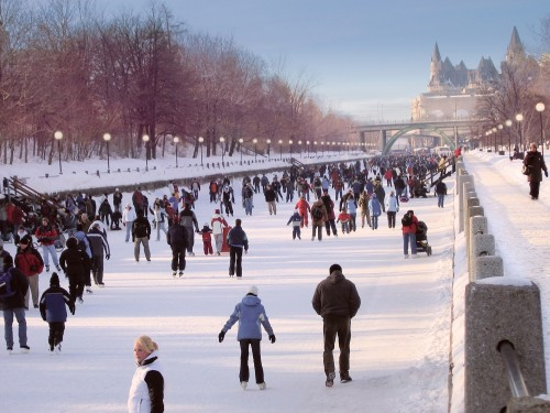 Patinage sur le Canal Rideau - Crédit photo Ottawa Tourism